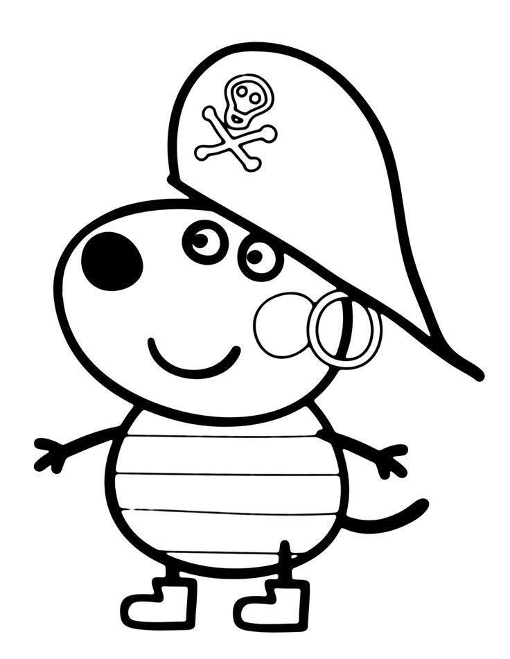 свинка пеппа раскраска для детей распечатать бесплатно формат а4