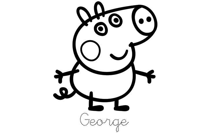 картинки свинка пеппа раскраска распечатать бесплатно