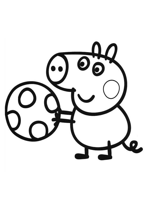 джордж раскраска свинка пеппа распечатать бесплатно формат а4