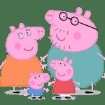 семья свинки пеппы раскраска