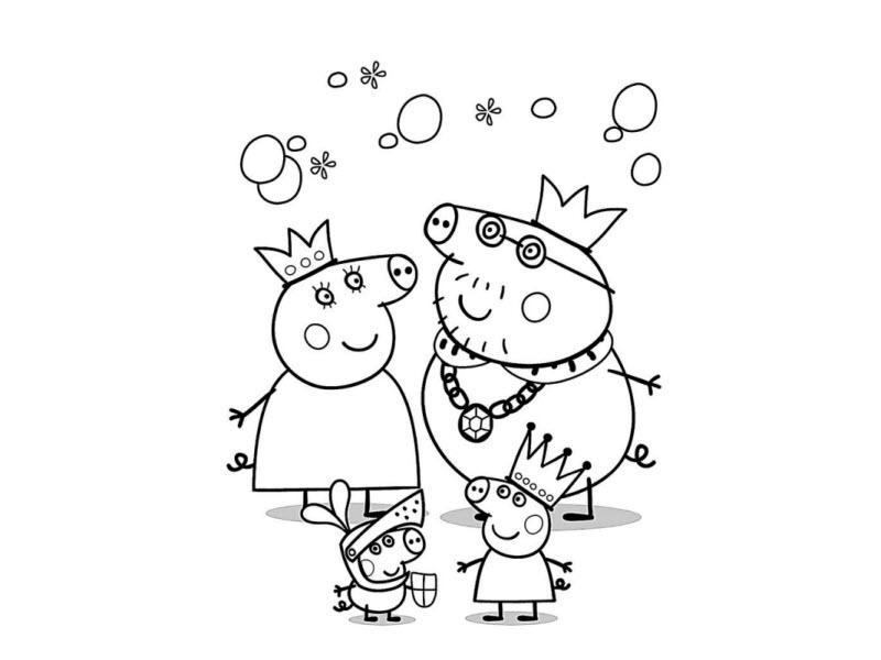 свинка пеппа и ее семья играют