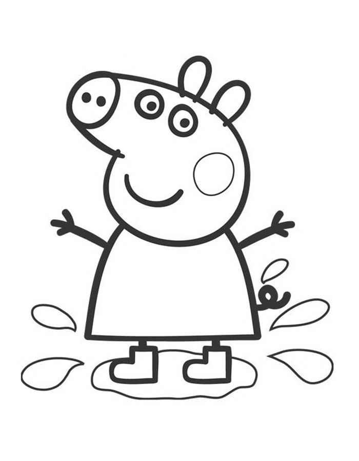 раскраска свинка пеппа распечатать бесплатно формат а4