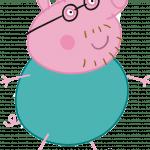 раскраска папа свин из свинки пеппы