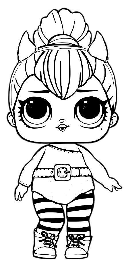 раскраски кукла лол распечатать бесплатно