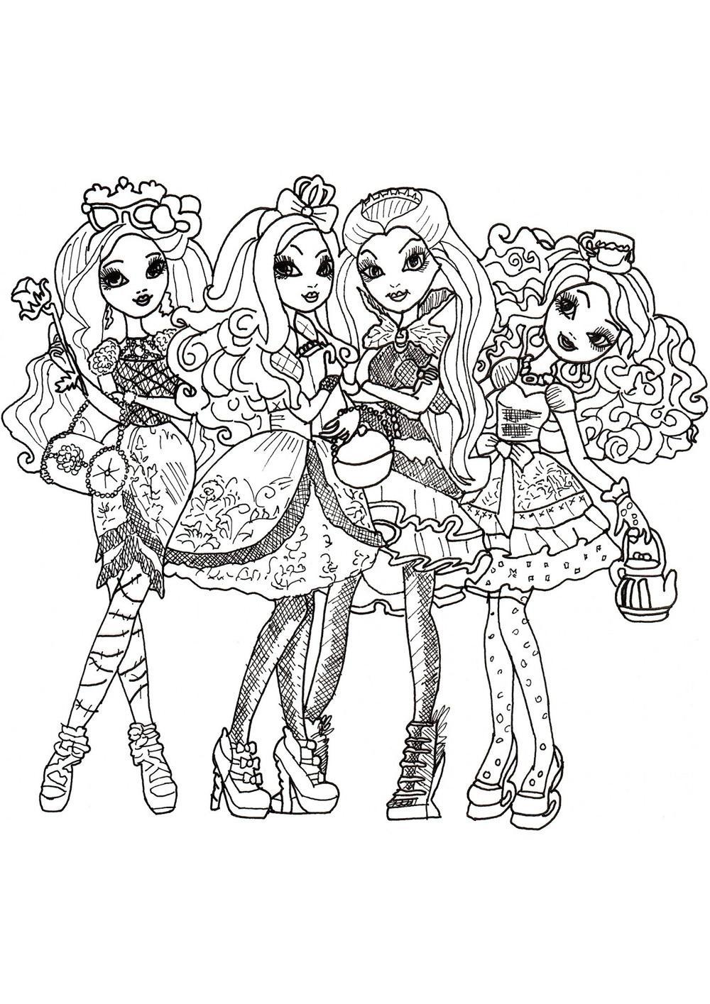 раскраски для девочек эвер афтер хай распечатать бесплатно