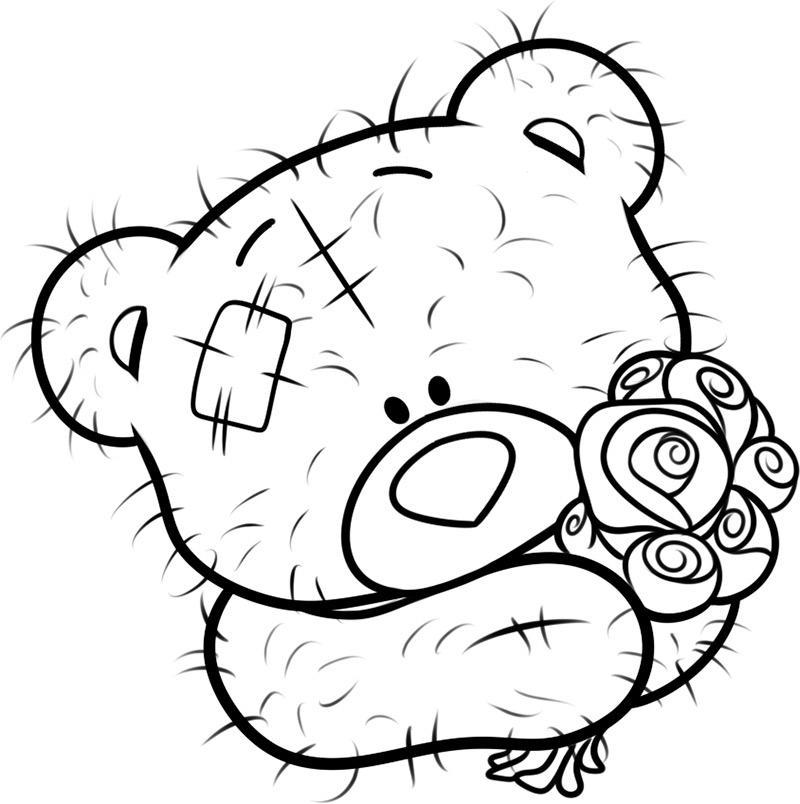 Мишки картинки не раскрашенные