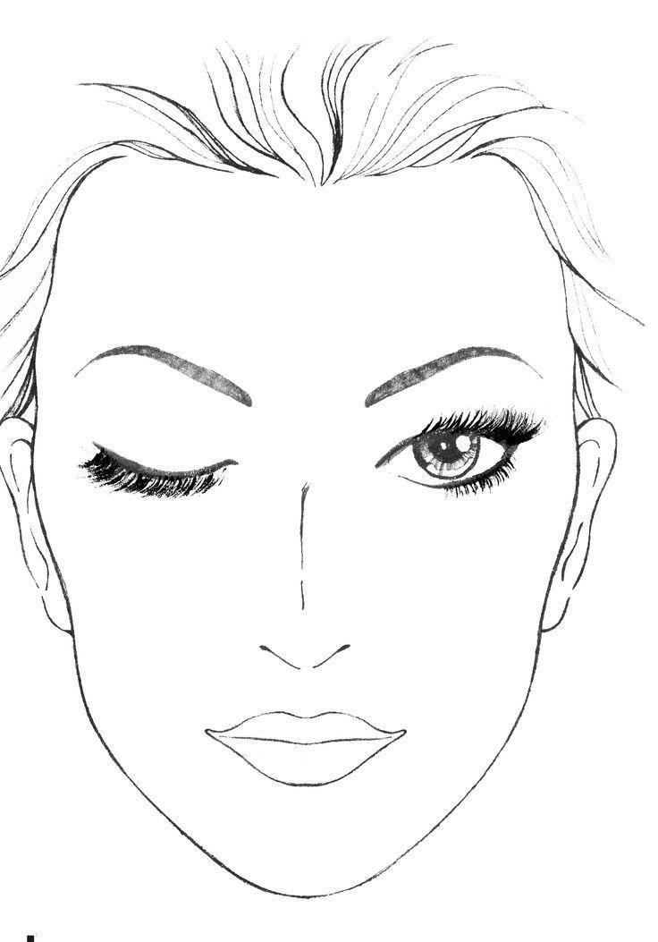Лицо картинка и раскраска