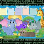 Картинки и раскраски - расписание уроков для девочек