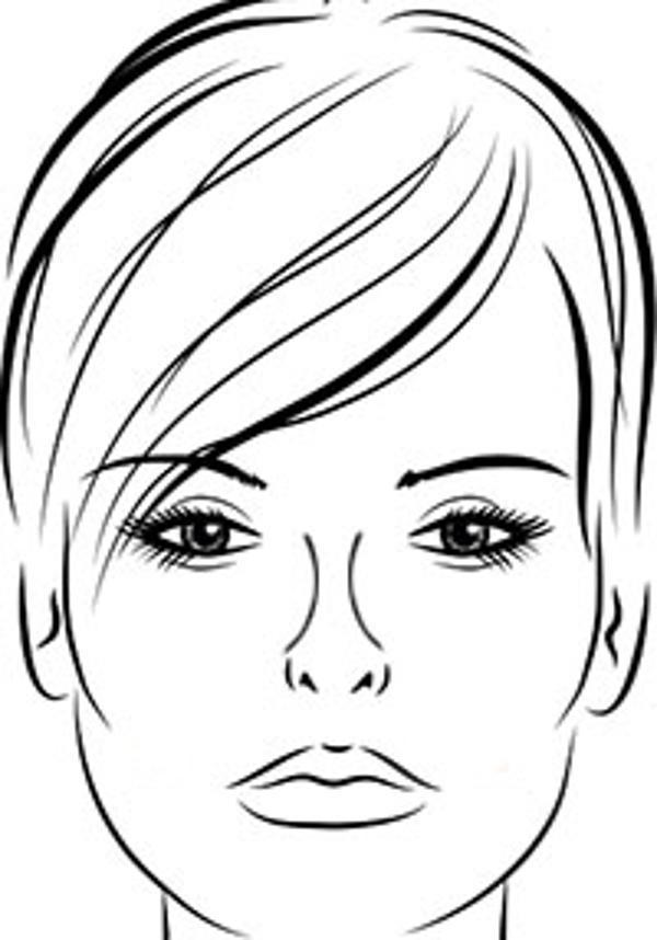 Раскраска лица девушек для макияжа распечатать бесплатно