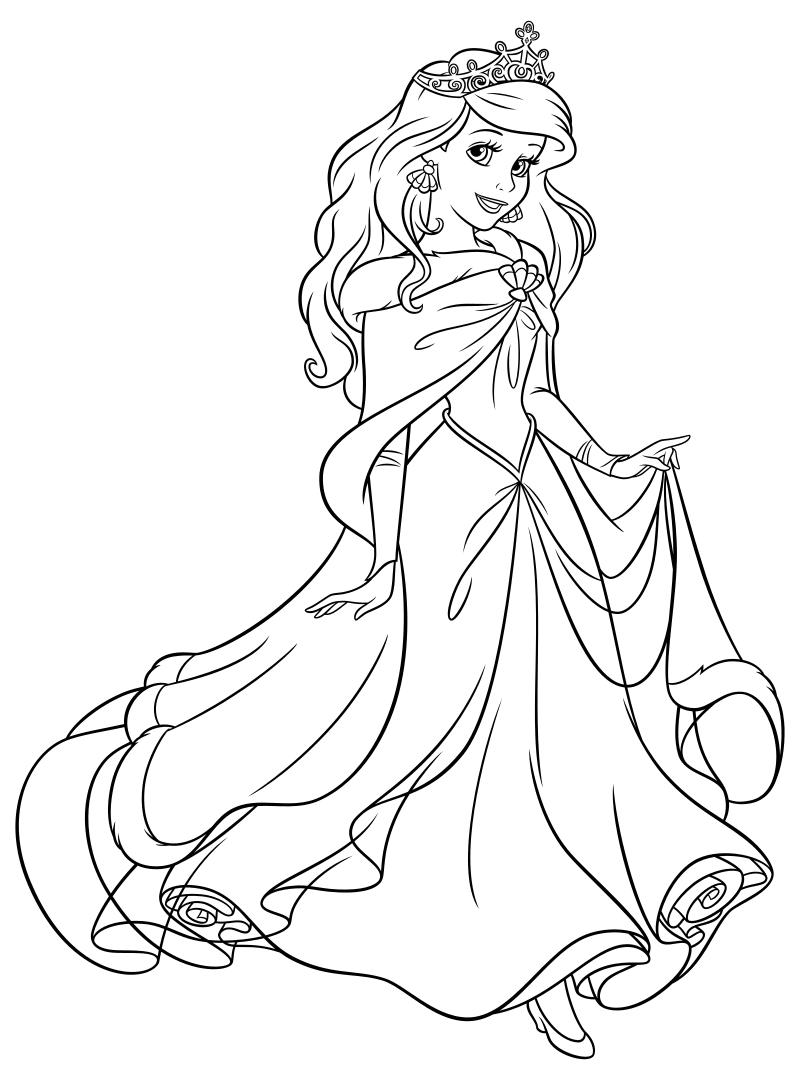 Распечатать раскраски принцессы диснея