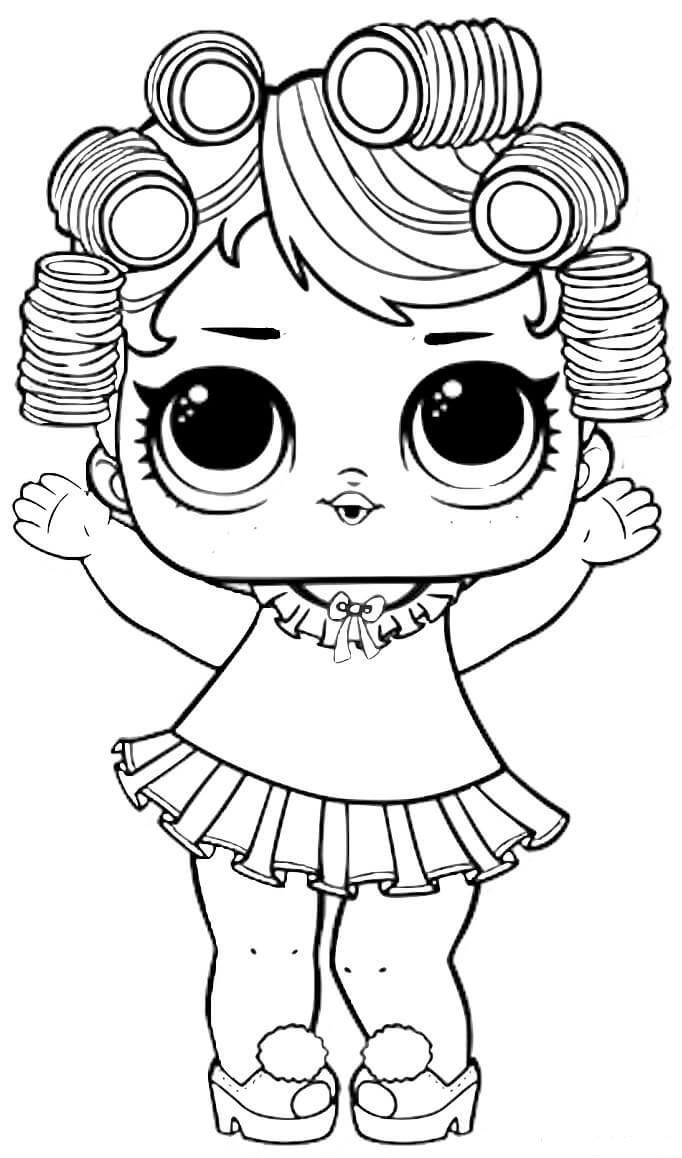 раскраски для девочек куклы лол распечатать бесплатно а4