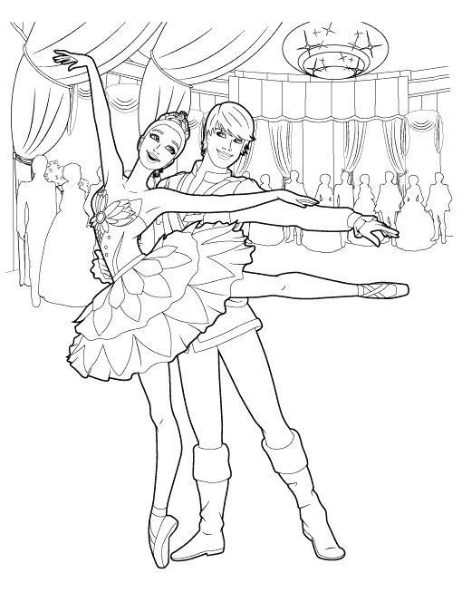 балерина из щелкунчика раскраска