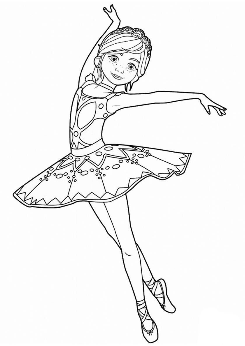 балерина раскраска для детей