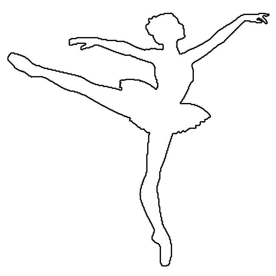 балерина раскраска контур