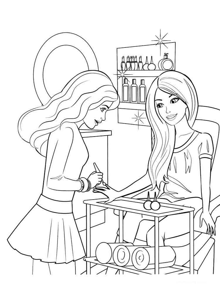 барби дримтопия раскраска