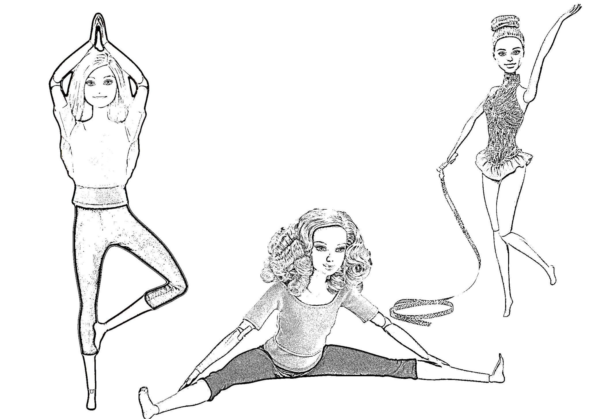 барби гимнастка
