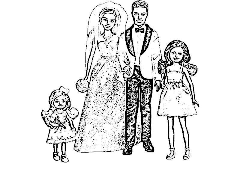 барби кен и дочка