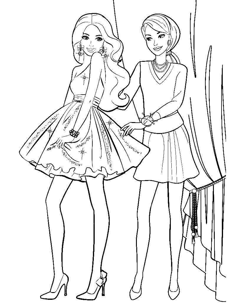 Раскраски для девочек Барби: распечатать бесплатно, новые ...