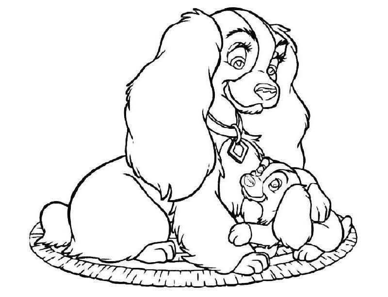 бесплатные раскраски для девочек собаки и щенки