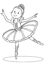 раскраска балерина для детей распечатать бесплатно