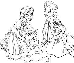 раскраска для девочек холодное сердце распечатать бесплатно