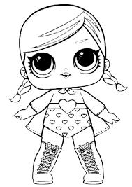 куклы лол раскраска черно белая распечатать бесплатно