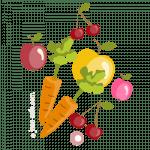 Овощи и фрукты - раскраски для девочек