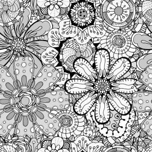 раскраска антистресс цветы ромашки