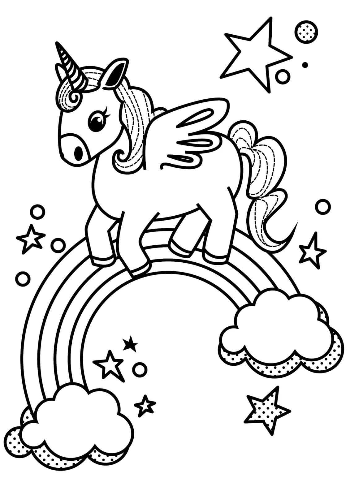 Раскраски Единорог распечатать бесплатно, скачать