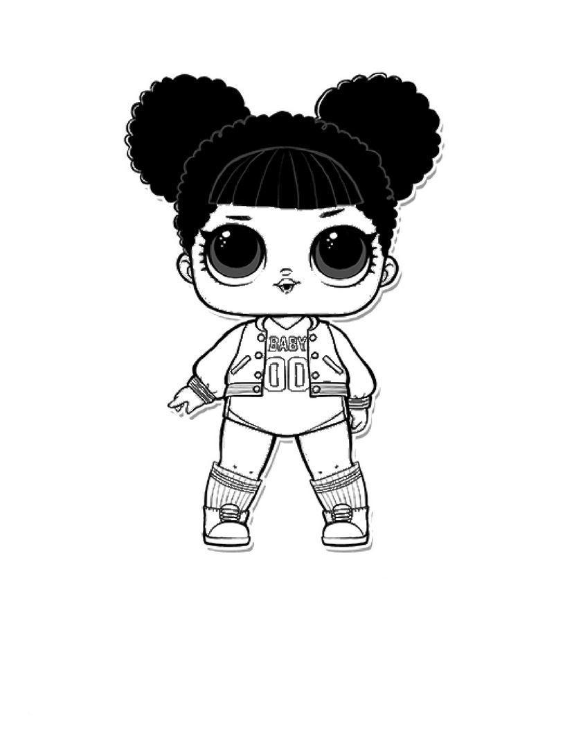 Раскраска кукла лол распечатать бесплатно, скачать