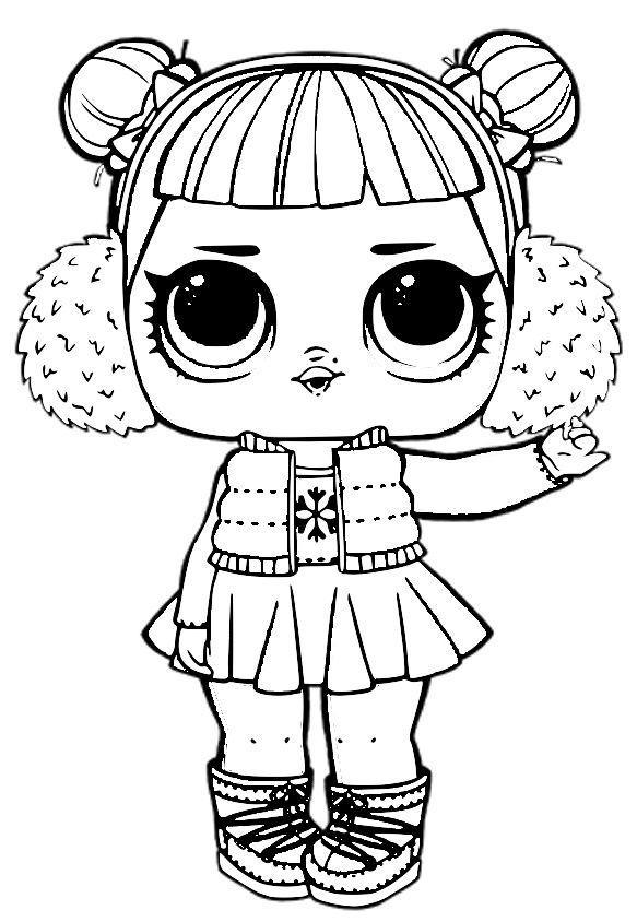 раскраска куклы лолы для детей распечатать бесплатно