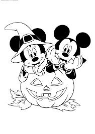 раскраска микки маус распечатать хэллоуин