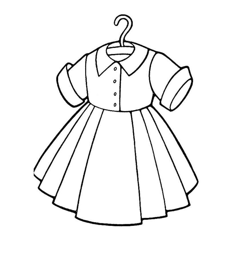 раскраски для девочек с одеждой сумка платья одевалки