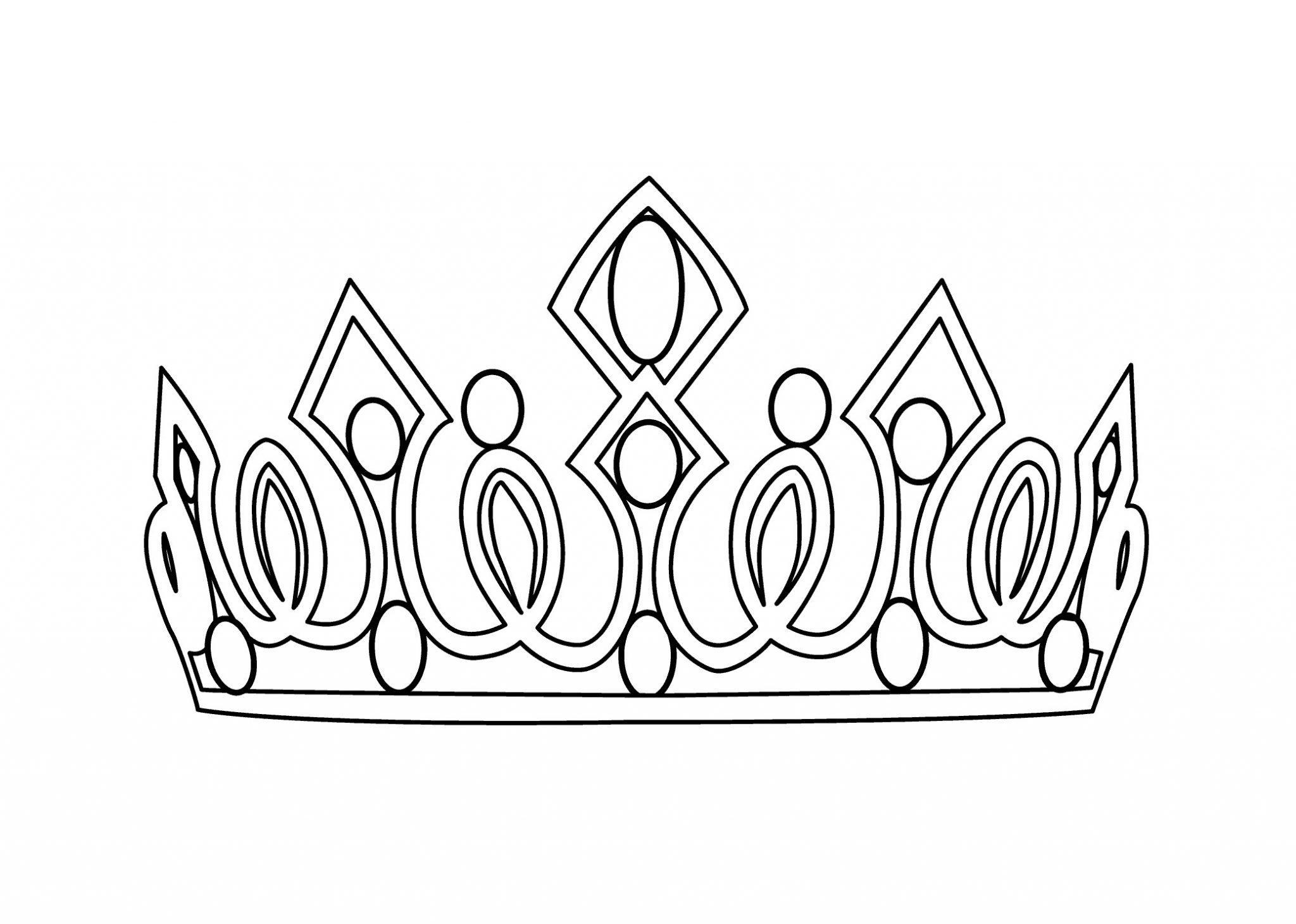 корона раскраска шаблон для мальчика распечатать