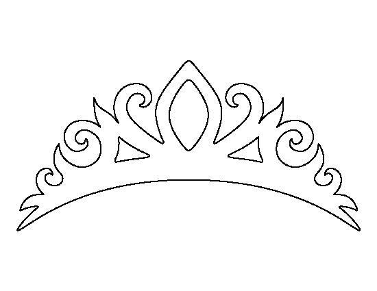 корона раскраска трафарет диадема распечатать