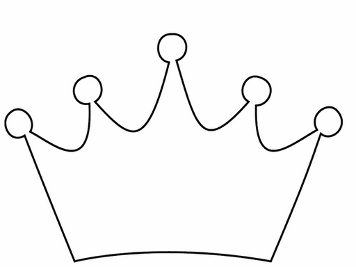 корона раскраска трафарет для детей распечатать