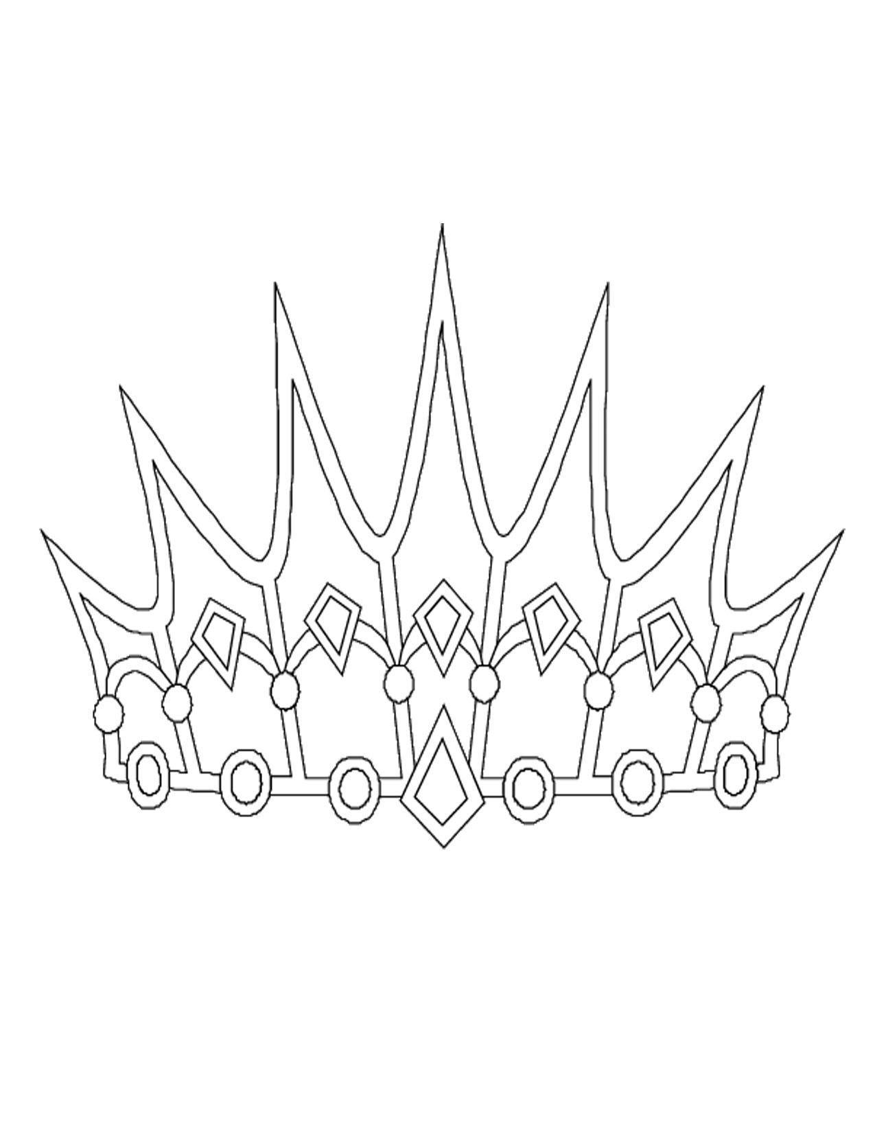 корона раскраска трафарет снежной королевы шаблон распечатать