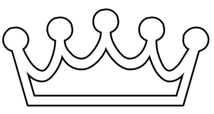 корона раскраска трафарет распечатать