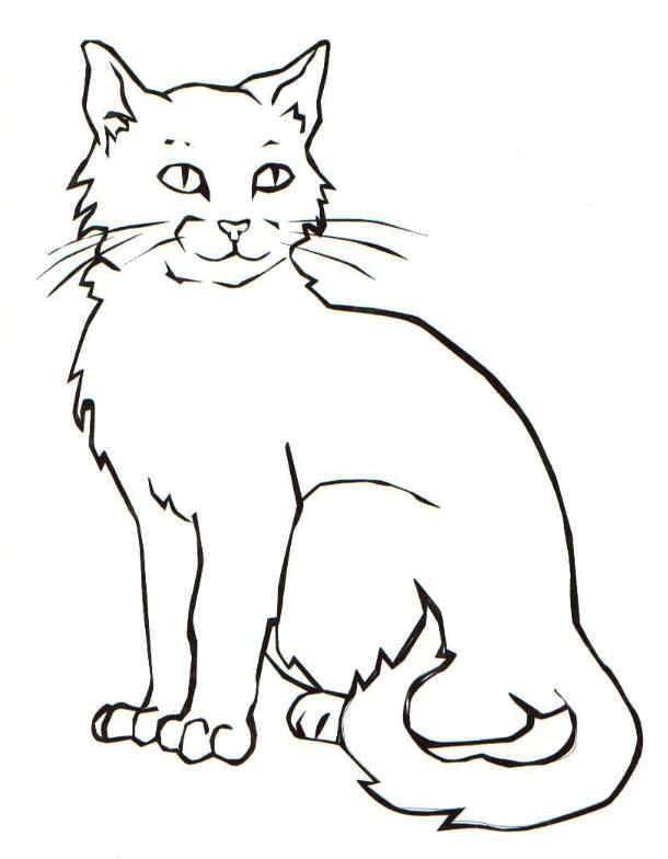 кошка раскраска для детей 3 4 лет