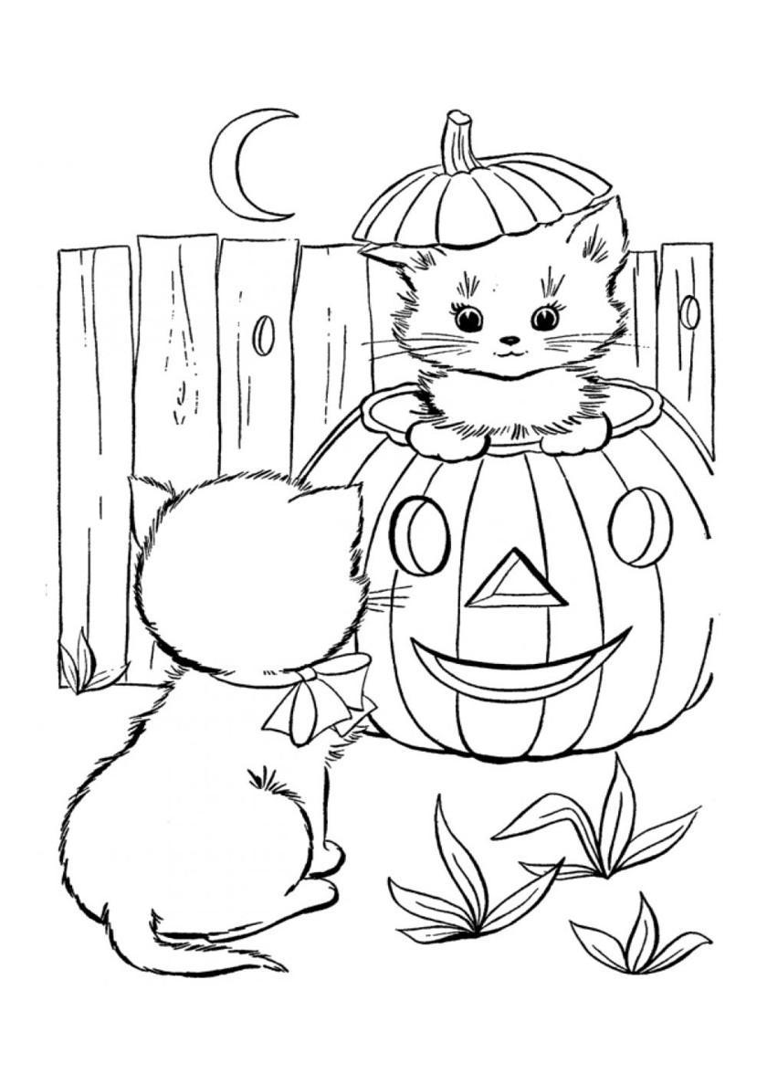 котенок детская раскраска