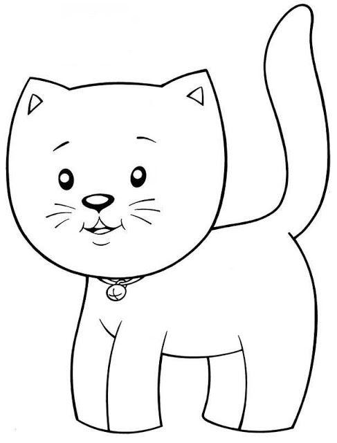 котенок раскраска для детей 3 лет