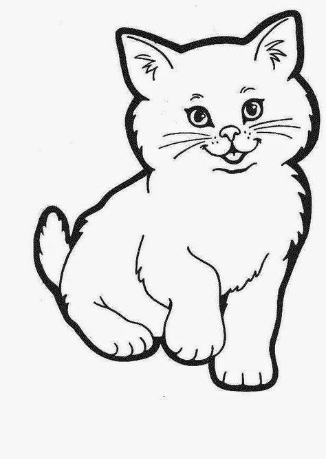 котенок раскраска для детей распечатать