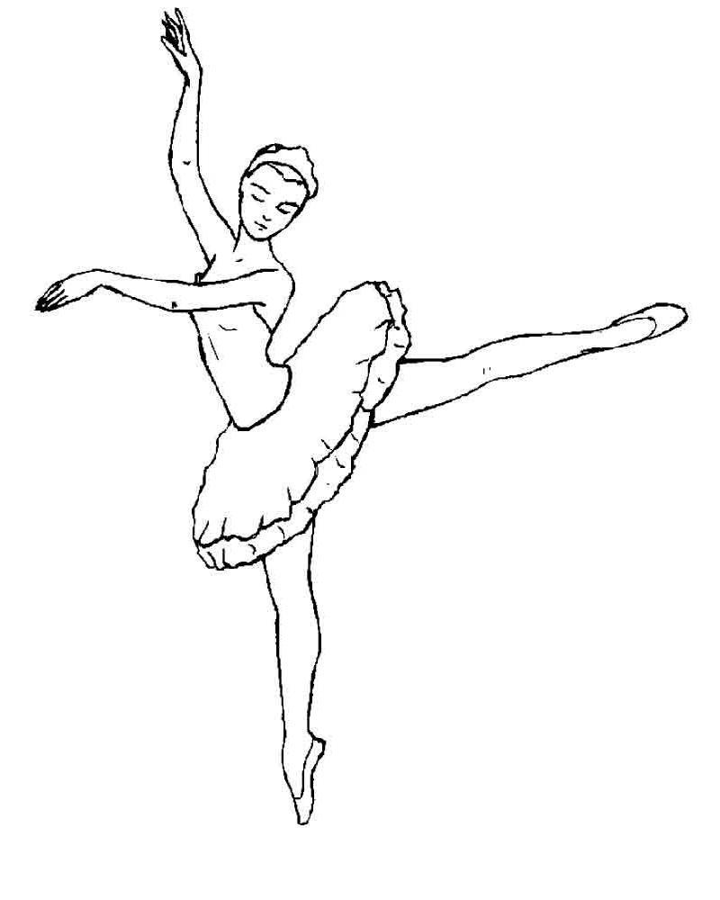 красивая балерина раскраска