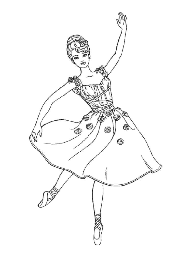 красивые раскраски балерины
