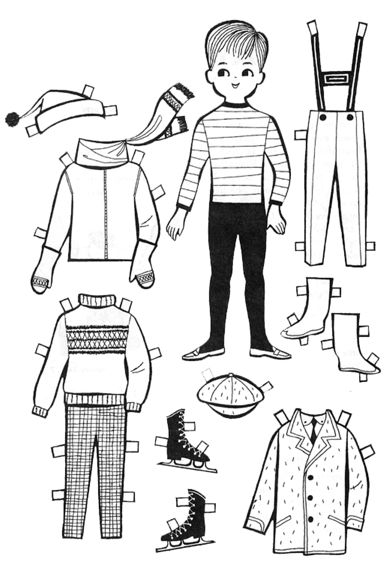 кукла мальчик с одеждой