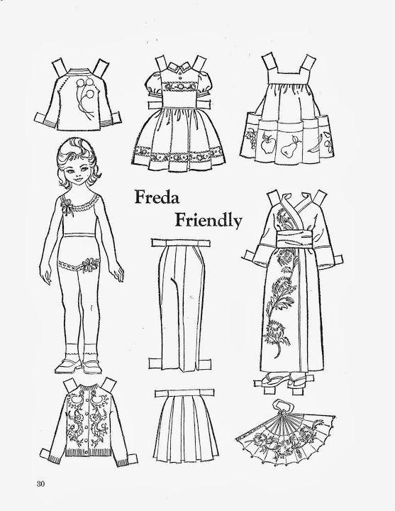 кукла раскраска без одежды