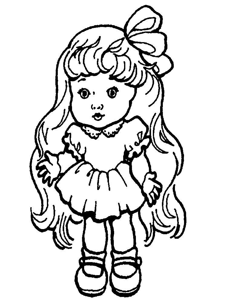Куклы картинки для девочек раскраски