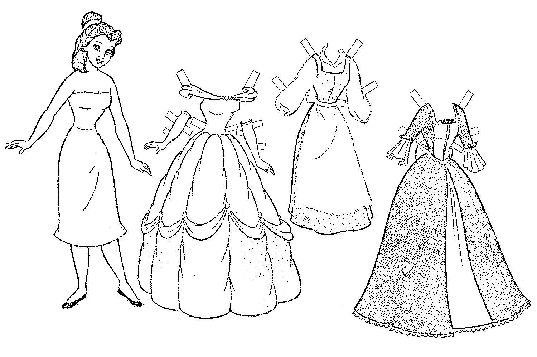 куклы с одеждой черно-белые