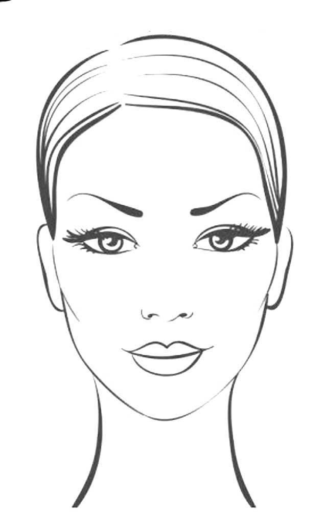 лицо для макияжа раскраска распечатать