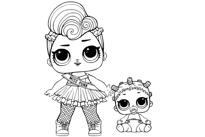 Раскраски для девочек куклы лол (lol) распечатать ...